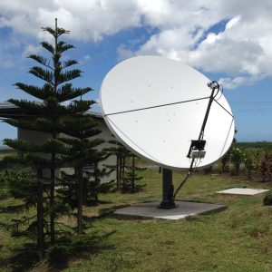 Broadcasting of the channel NCTV via satellite