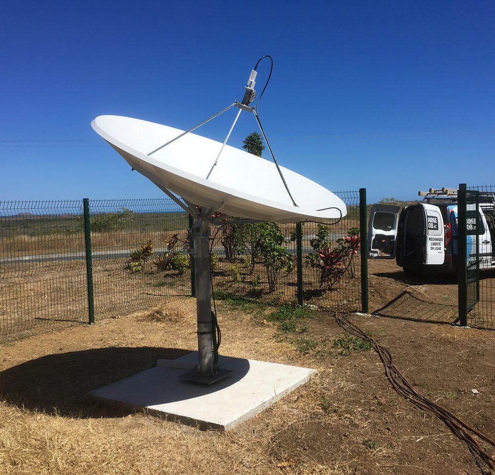 Ajout d'une antenne 2.4m pour Caledonia TV